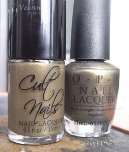 Cult Nails In a Trance comparison with OPI At Your Quebec and Call