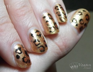 LA Girl Rock Star Electric Guitar & Leopard Nails