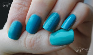 OPI Fly, Milani Fresh Teal, Kleancolor Catch Me, overcast natural light