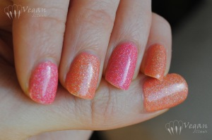 Kleancolor Holo Pink and Holo Orange over Milani Retro