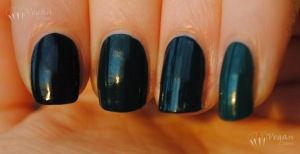 dark teal creme comparison: Zoya Cynthia, NOPI Khloe, Joe Fresh Hunter, LA Colors Jungle