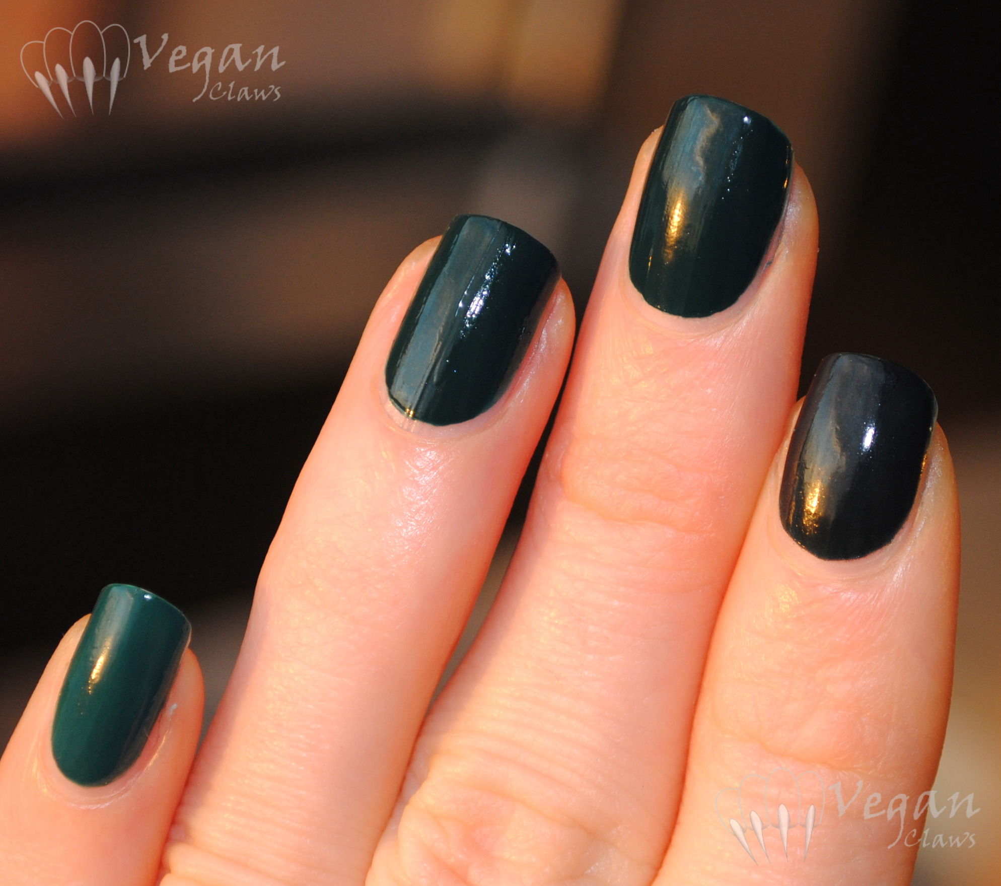 Dark teal comparison featuring Nicole by OPI | Vegan Claws