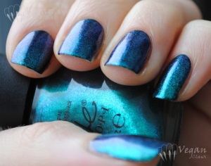 Nicole by OPI Iceberg Lotus over black