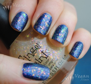 Fingerpaints Twisted over OPI Russian Navy Suede