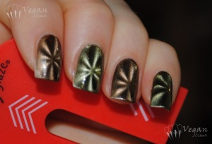 China Glaze Cling On (green) and You Move Me (brown) with magnet