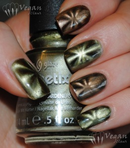 China Glaze Cling On (green) and You Move Me (brown)