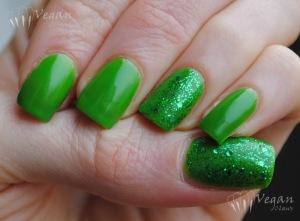 NYX Girls Pure Green with LA Girl Glitter Addict Purge