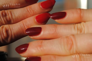 China Glaze Sacred Heart and Nubar Beguiling Carmine