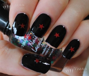 Kleancolor Black with red stars picked out of Kleancolor Blind Date