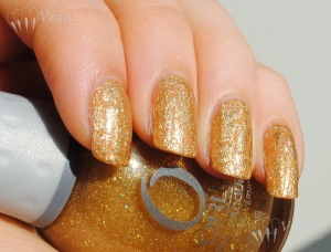Kleancolor Café au Lait, China Glaze Tarnished Gold, Orly Prisma Gloss Gold