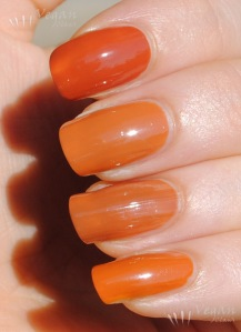 OPI Ginger Bells, China Glaze Desert Sun, OPI & Apple Pie, Joe Fresh Pumpkin