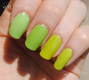 Orly Green Apple, Misa Good to be Green, OPI Who the Shrek are You, Zoya Mitzi