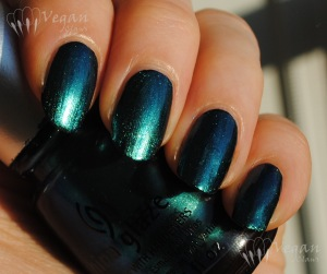 China Glaze Deviantly Daring over black