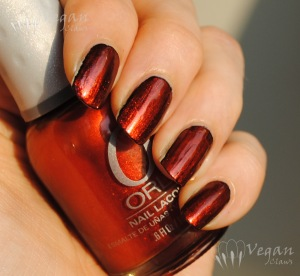 Orly Flicker over black