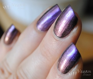 China Glaze No Plain Jane over black