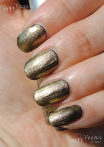 China Glaze Swanky Silk over black