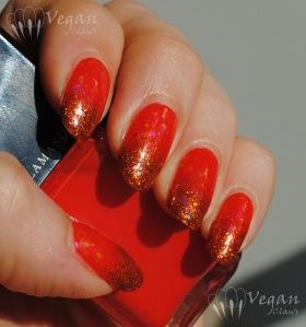 Illamasqua Whack with Nubar Orange Glitter and Fingerpaints Twisted