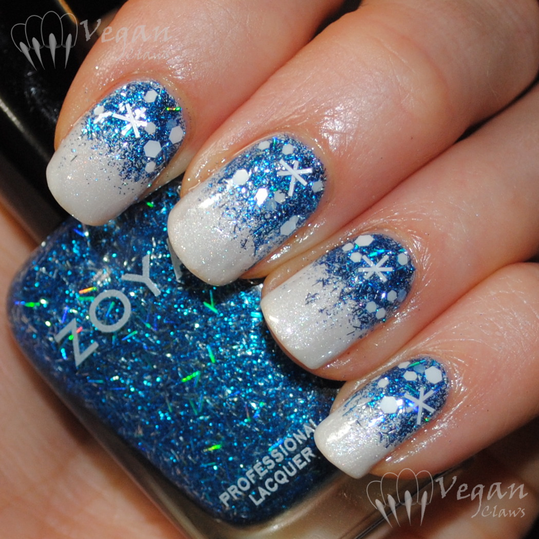 Holiday nail art challenge week 1 snow vegan claws orly au champagne and zoya twila prinsesfo Gallery