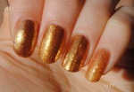 OPI Goldeneye, Orly Glitz & Glamour, Sparitual Solstice, Wet n Wild The Gold and the Beautiful