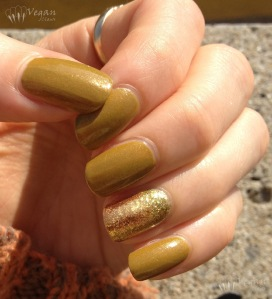 China Glaze Trendsetter with lime/gold foily accent