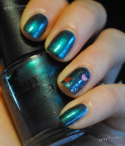 Authority Cosmetics Emerald Sky with I Heart You