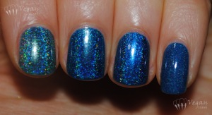 Left to right: Glitter Gal Teal Blue, Glitter Gal Navy I Will Navy I Won't, Glitter Gal Marine Blue, NCLA Spaced Out