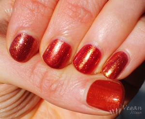 Thumb to pinkie: OPI Bronzed to Perfection, Deborah Lippmann Phoenix Rising, Zoya Autumn, Sparitual Rusted Lux, Sparitual Conduit