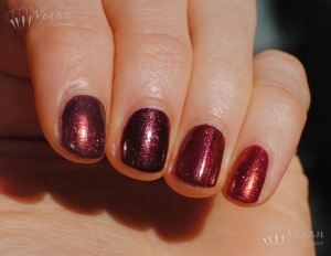 Left to right: Zoya Anastasia, Zoya India, Joe Fresh Cinnamon, FingerPaints Palette of Perfection