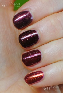 Top to bottom, under Ottlite: Zoya Anastasia, Zoya India, Joe Fresh Cinnamon, FingerPaints Palette of Perfection