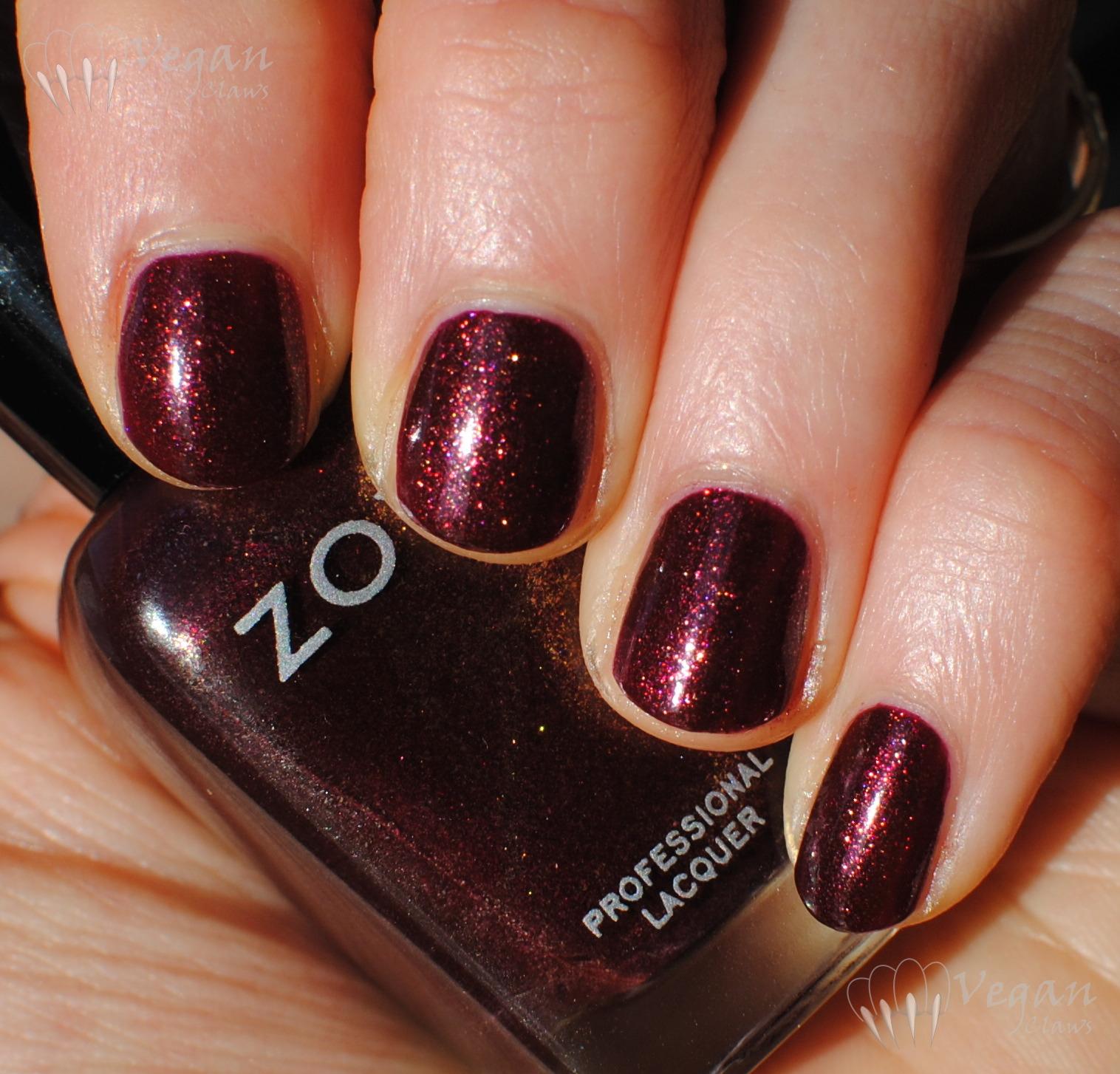 Fresh Burgundy Glitter Nail Polish &LZ74