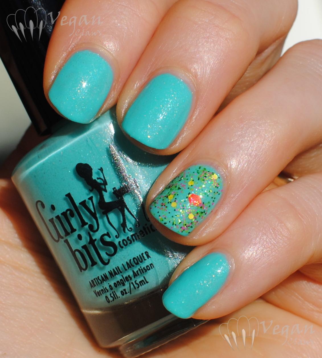 iridescent glitter | Vegan Claws