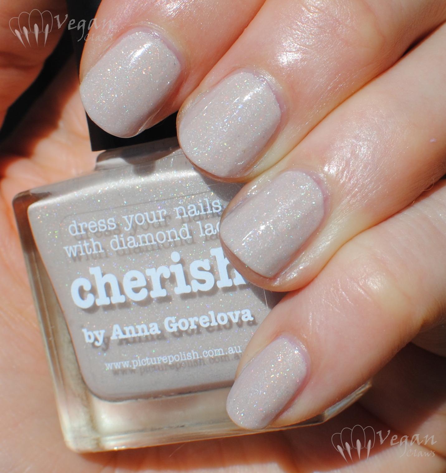 Picture Polish Cherish and chevron nail art | Vegan Claws