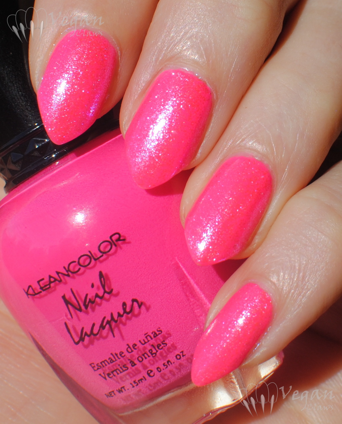 Kleancolor Neon Pink and Starlight Polish Ever Blue | Vegan Claws